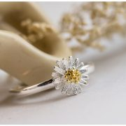 Daisy-open-925-Sterling-Silver-Rings-For-Women-simple-fashion-gold-chrysanthemum-Sterling-Silver-Jewelry-Bague-2