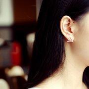 STERLING SILVER SIMPLE TRIANGLE EARRINGS