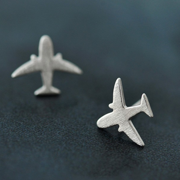 STERLING SILVER PLANE EARRINGS