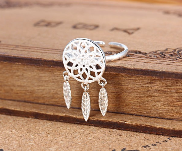 STERLING SILVER DREAM CATCHER RING