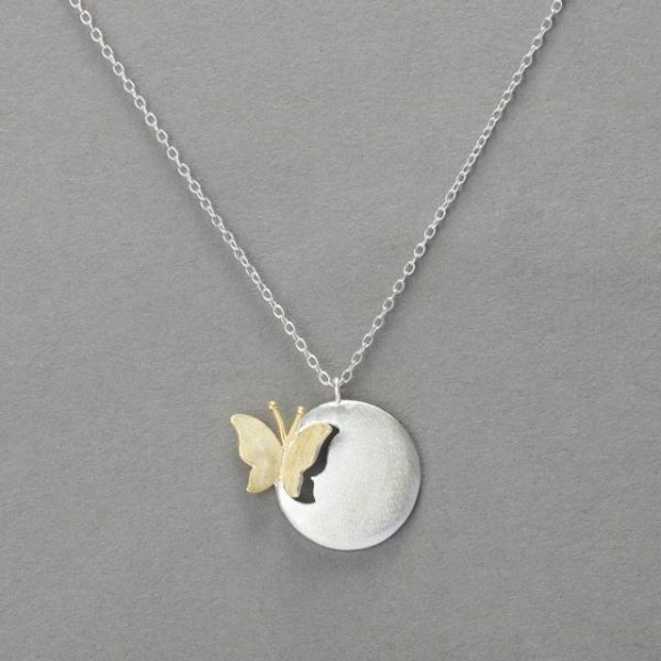 BUTTERFLY DISK NECKLACE