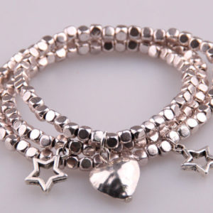 BEADED WRAP BRACELET WITH STAR CHARM
