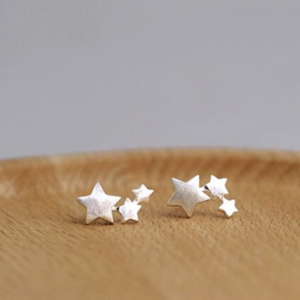 STAR TRIO STUD EARRINGS