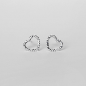TWISTED HEART STUD EARRINGS
