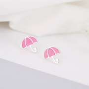 PINK UMBRELLA STUD EARRINGS