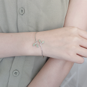 GREEN LEAF WRAP BANGLE