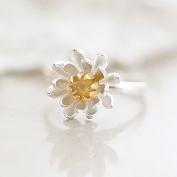 STERLING SILVER SIMPLE FLOWER RING