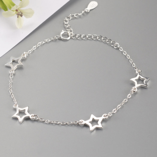 STERLING SILVER MULTI STAR BRACELET