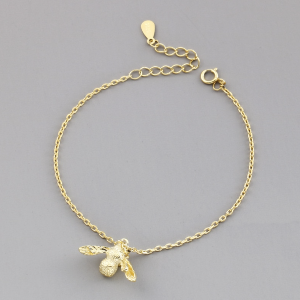 STERLING SILVER GOLD BEE BRACELET
