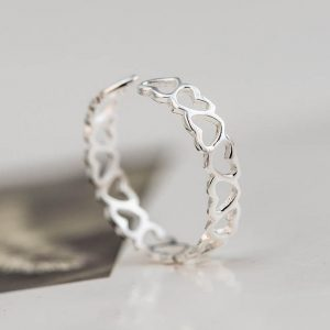Free-Shipping-925-Sterling-Silver-Rings-925-Hollow-Heart-Open-Rings-Jewelry-anillo-de-plata-anello