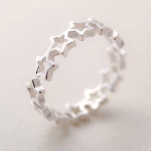 Fres-Shipping-925-Sterling-Silver-Rings-Hollow-Star-Finger-Open-Rings-For-Women-Jewelry-1