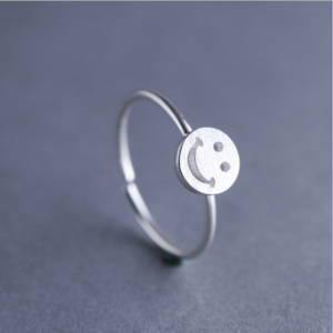 STERLING SILVER SMILE RING