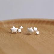 STAR TRIO STUD EARRINGS